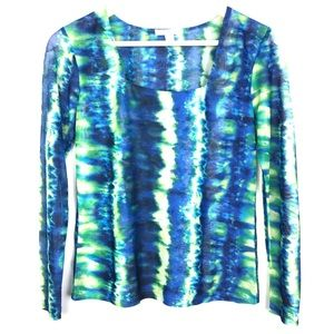 Erin London Long Sleeve Square Neck Blouse Small